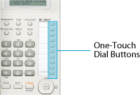 Image is for One-touch dial buttons
