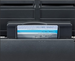 image of Embossed Card Scanning