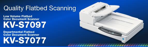 Quality Flatbed Scanning - Low Volume Flatbed Color Document Scanner KV-S7097 / Departmental Flatbed Color Document Scanner KV-S7077