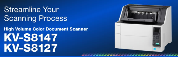 Streamline Your Scanning Process  - High Volume Color Document Scanner KV-S8147 / KV-S8127