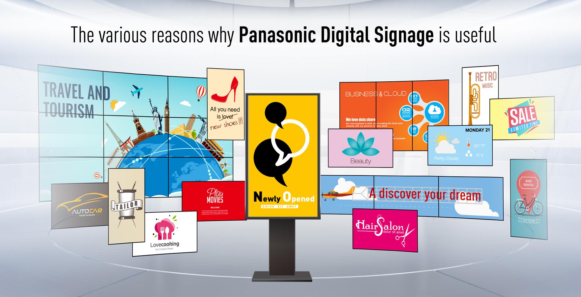 why panasonic digital signage? | solutions | professional displays |  panasonic global