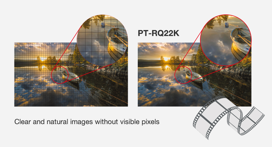 Clear and natural images without visible pixels