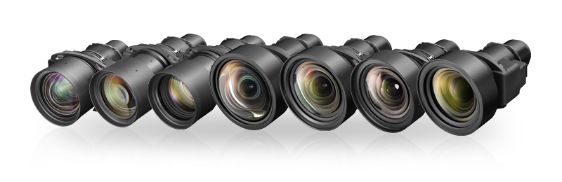 New lineup of seven optional lenses