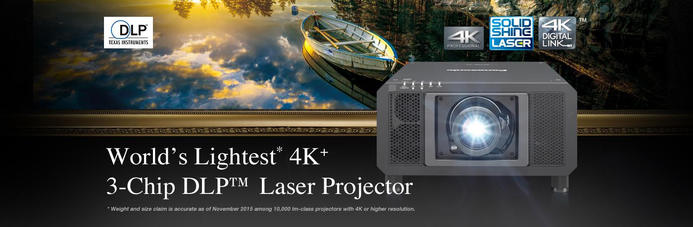 World's Lightest* 4K+ 3-Chip DLP™ Laser Projector