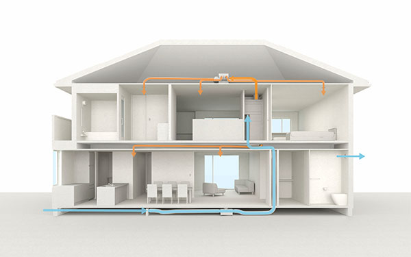 "New Whole-House Air Conditioning and Ventilation Systems ""Air LOHAS"""