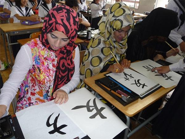 UAE KWN Students Experience Japanese Culture