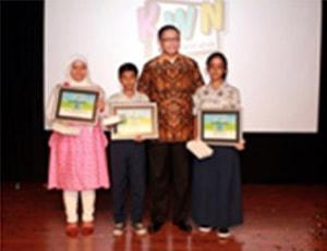 Kids School Dual Awards Ceremony Held in Indonesia